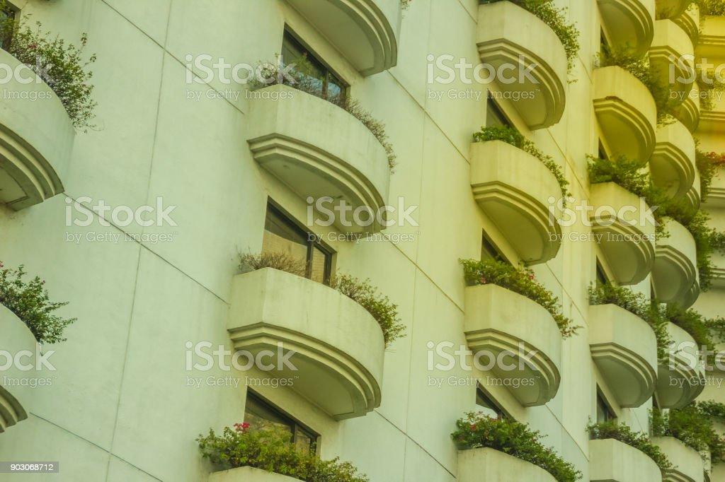 Patrón De Diseño De Arquitectura De La Terraza Muchas