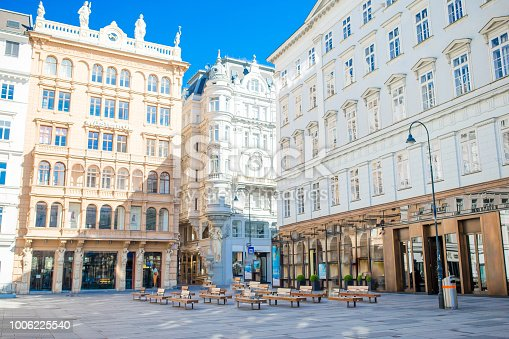Beautiful architecture in the old city in Vienna. Cityscape views of one of Europe's most beautiful town- Vienna.