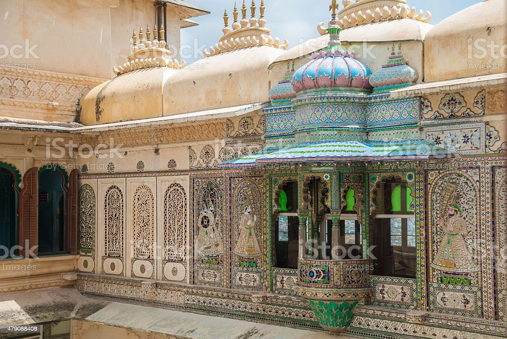 Beautiful architecture in Udaipur, India stock photo