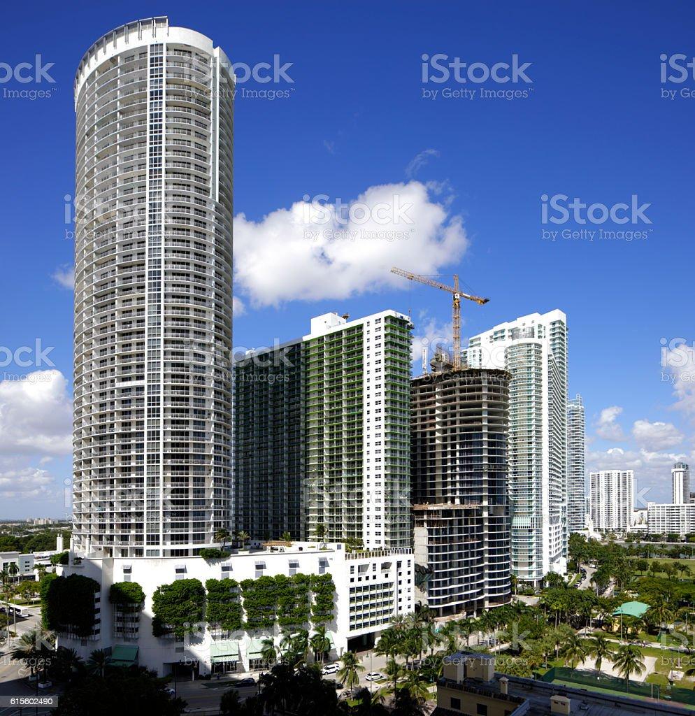 Beautiful architecture Miami stock photo