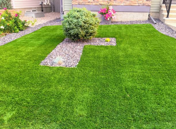 A beautiful artificial lawn A beautiful artificial lawn turf stock pictures, royalty-free photos & images