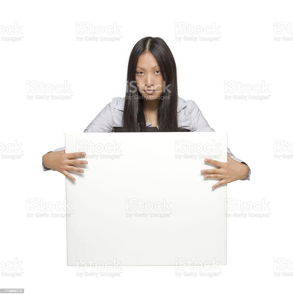 beautiful asian billboard girl royalty-free stock photo