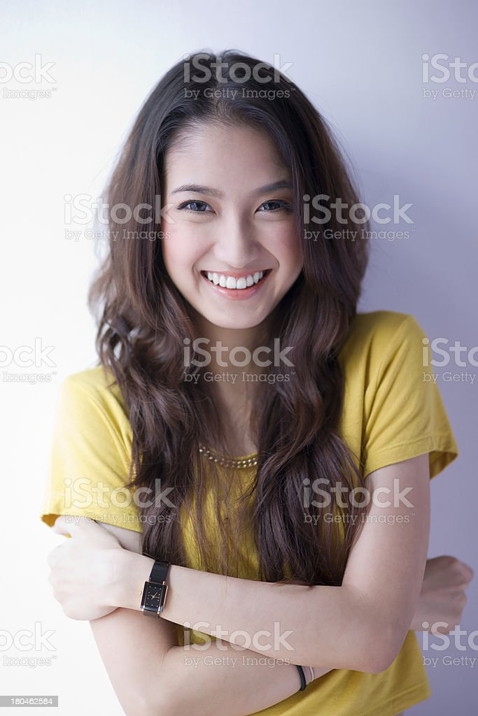 Beautiful asian girl stock photo