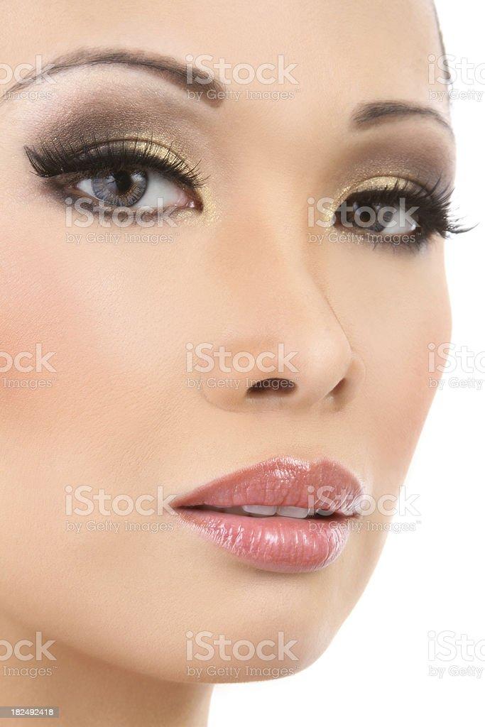 Beautiful Asian Model Closeup stock photo