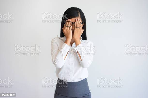 Beautiful asian woman covering face under glasses picture id903578874?b=1&k=6&m=903578874&s=612x612&h=mdoh0frptsctyiqspkg9t30dpniubm2vrtazsrbhr3c=