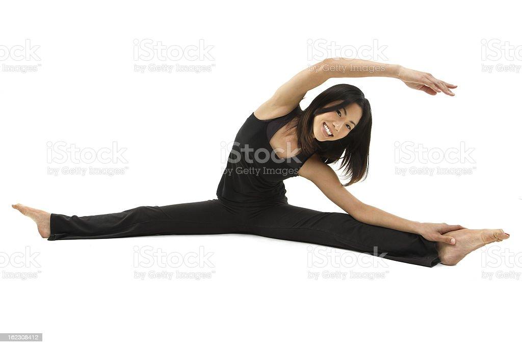 Beautiful Asian woman doing yoga royalty-free stock photo