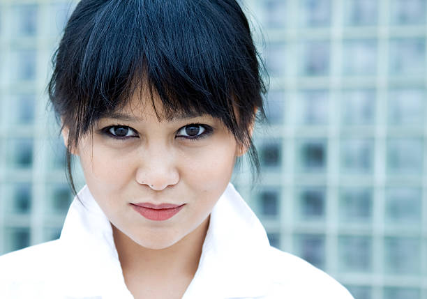 Hermosa mujer asiática - foto de stock
