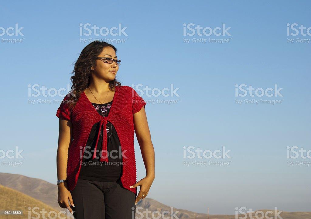 아름다운 아시아계 여자 royalty-free 스톡 사진