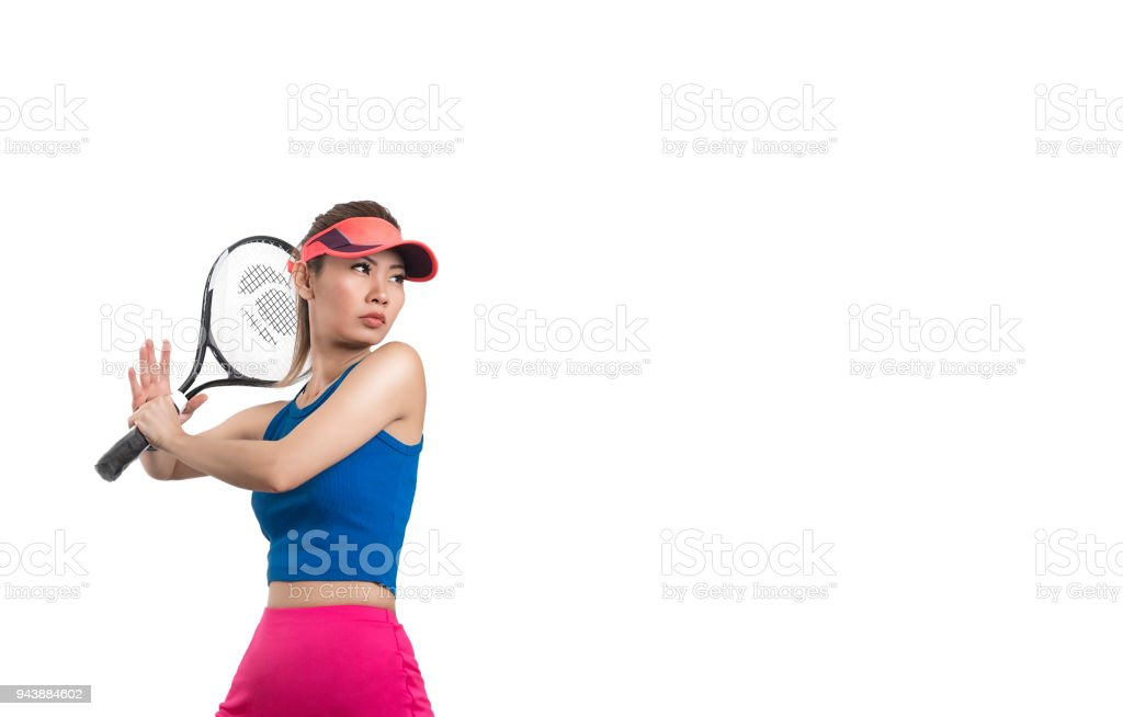 fff0244665 Fotografía de Hermosa Mujer Asiática Jugando Tenis y más banco de ...