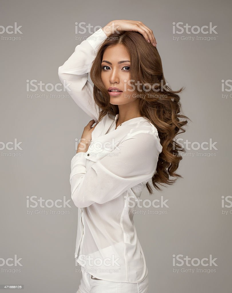 Beautiful asian woman posing stock photo