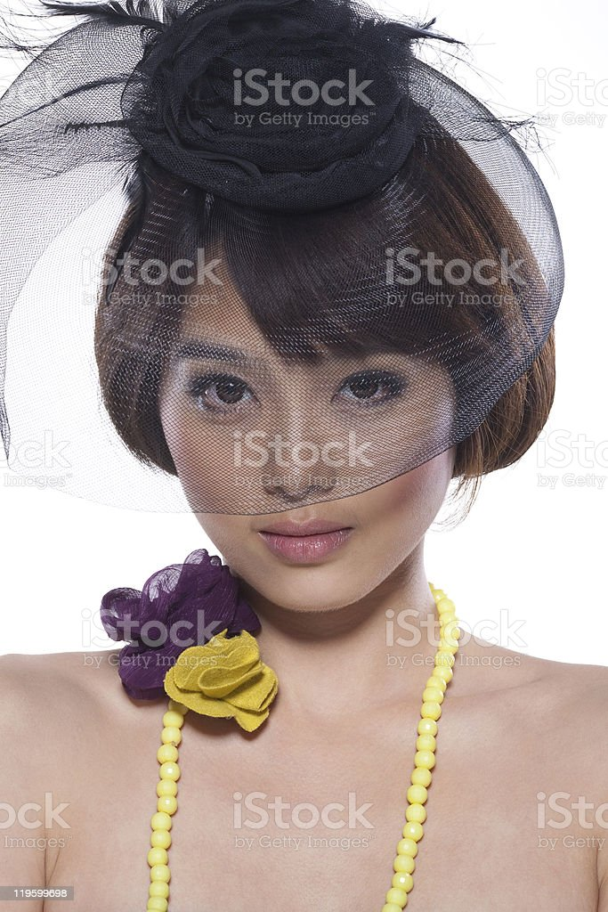 beautiful asian young model portrait royalty-free stock photo