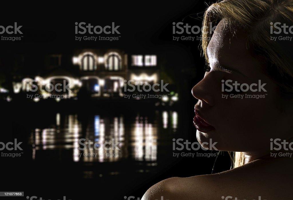 Beautiful at night royalty-free stock photo