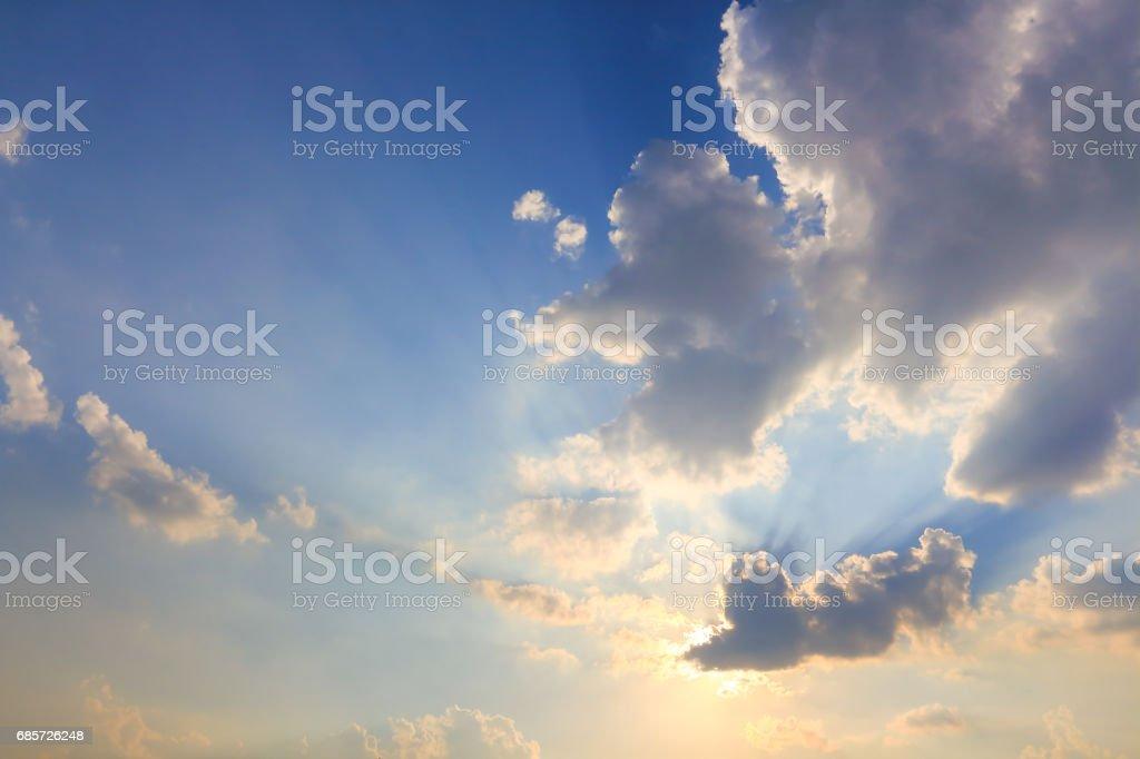 Beautiful atmosphere  cloud sky. royalty-free 스톡 사진