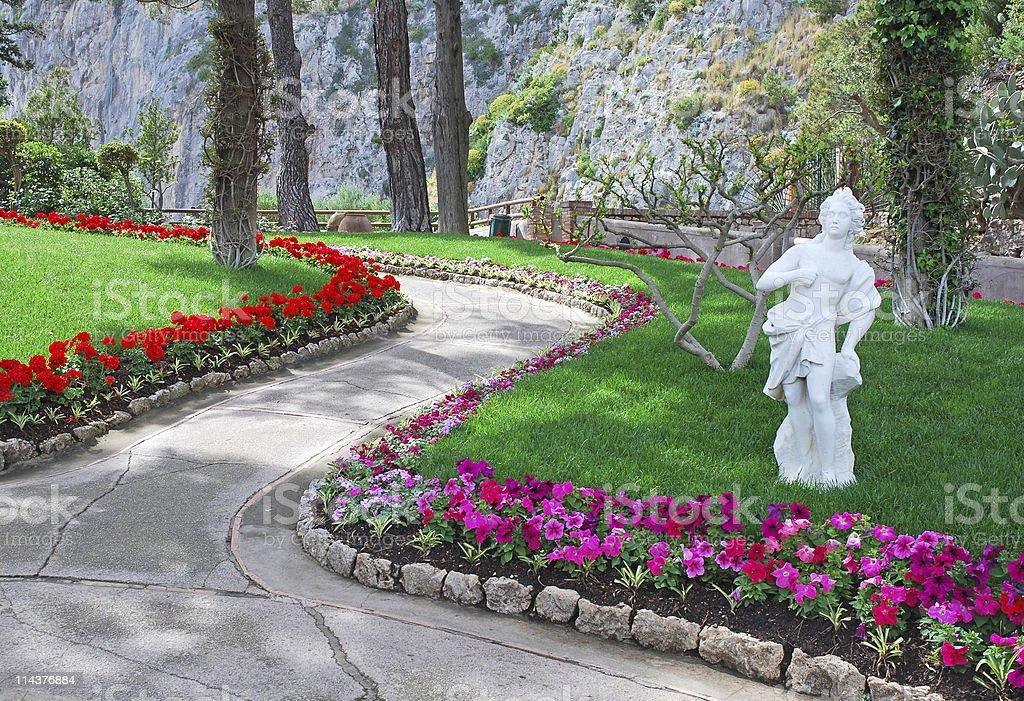 Beautiful Augustus garden, Capri, Italy royalty-free stock photo
