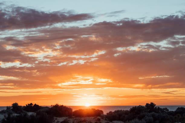 Beautiful Australian Sunset stock photo