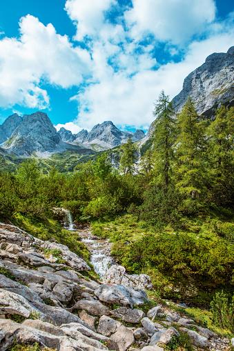 Beautiful Austrian countryside european landscape on a beautiful day