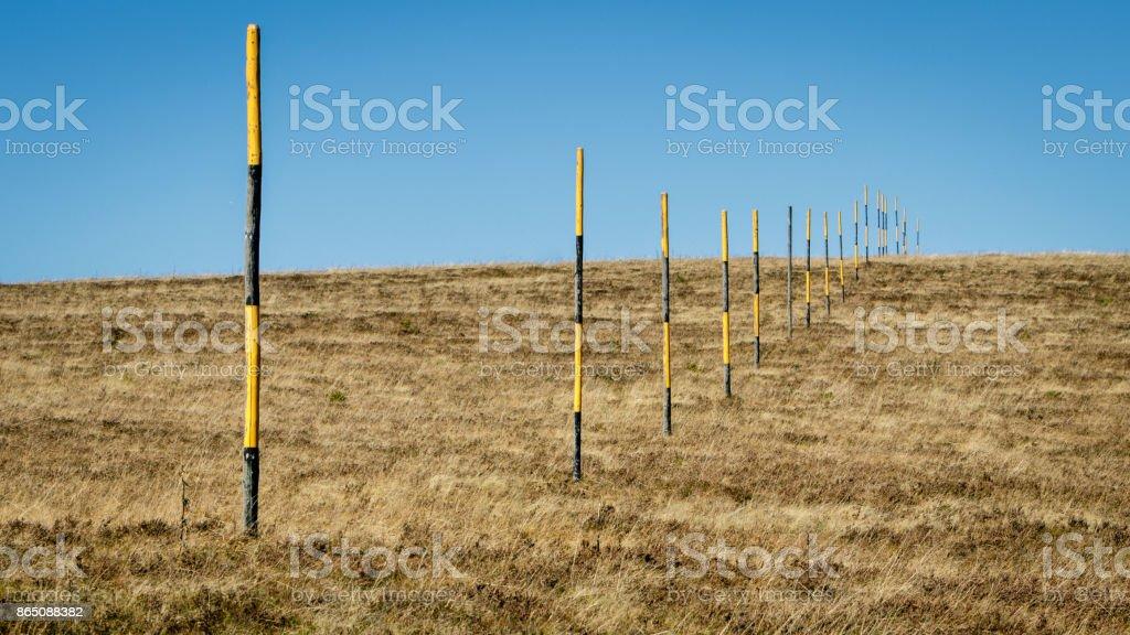 Beautiful autumn colored Feldberg meadow stock photo
