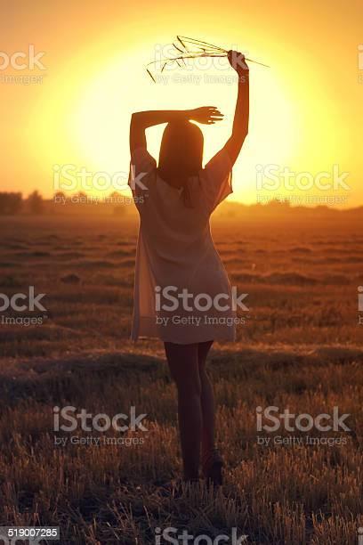 Beautiful Autumn Girl Stock Photo - Download Image Now