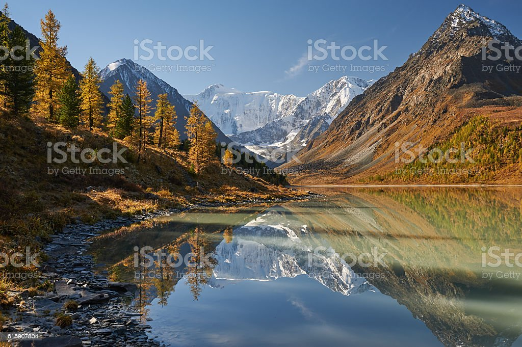 Beautiful autumn landscape, Altai mountains Russia. – Foto