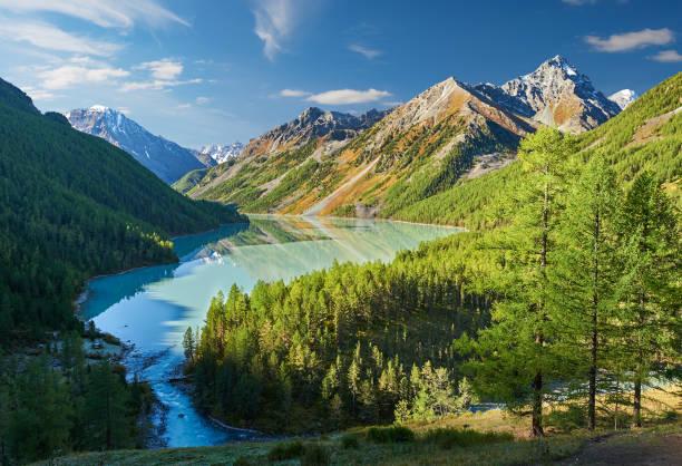 Cтоковое фото Beautiful autumn landscape, Altai mountains Russia.