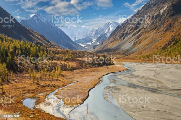 Beautiful Autumn Landscape Altai Mountains Russia Stock Photo - Download Image Now