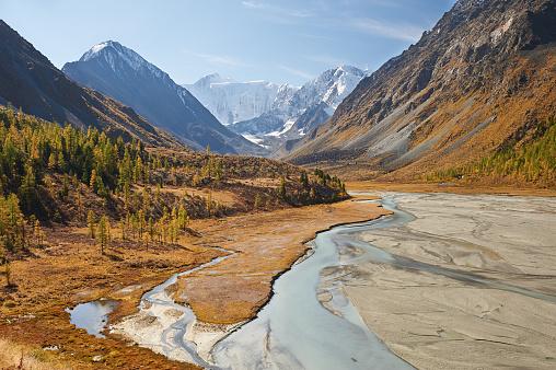 Beautiful Autumn Landscape Altai Mountains Russia — стоковые фотографии и другие картинки Altai Nature Reserve
