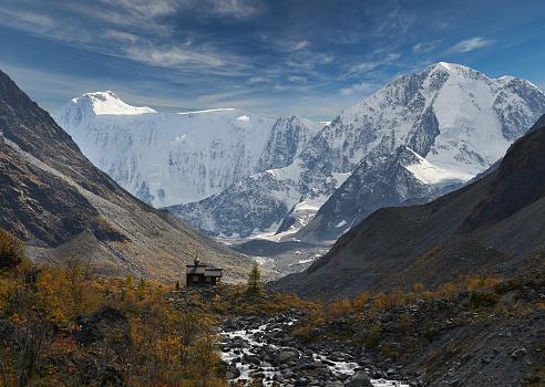 Mooi Herfst Landschap Altaj Rusland Stockfoto en meer beelden van Aartsengel