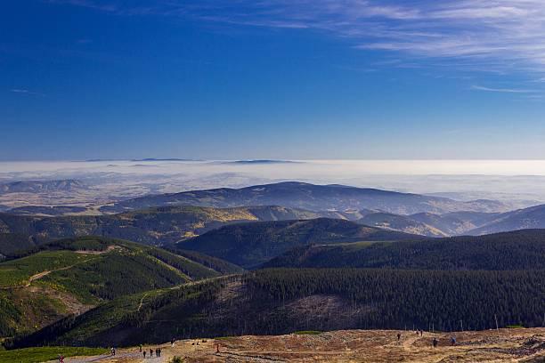 Piękna jesień krajobraz, góry Karkonosze, Polska – zdjęcie