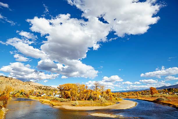 Beautiful autumn landscape with Eagle River, USA. - Photo