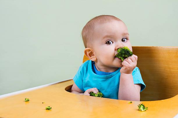 Schöne baby Essen Brokkoli – Foto