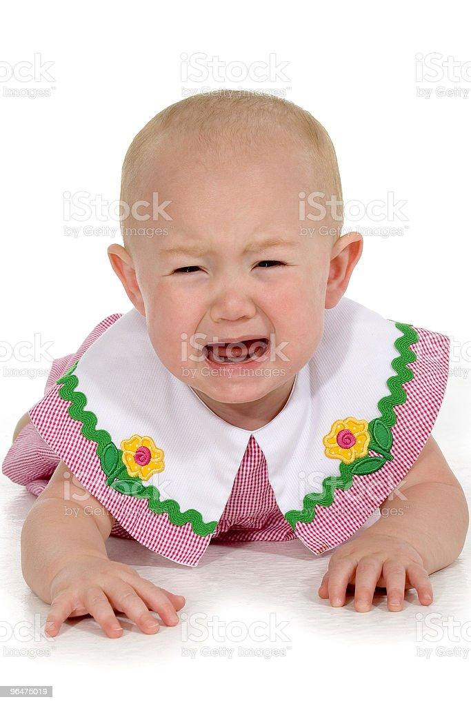Beautiful Baby Girl Crying royalty-free stock photo
