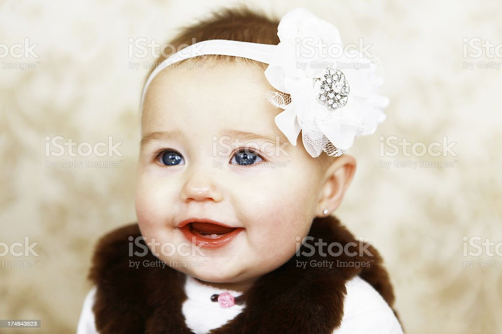 Beautiful Baby Girl Portrait royalty-free stock photo