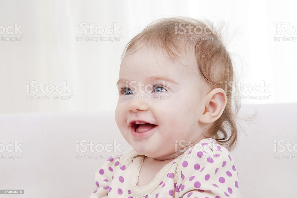 Beautiful baby posing royalty-free stock photo
