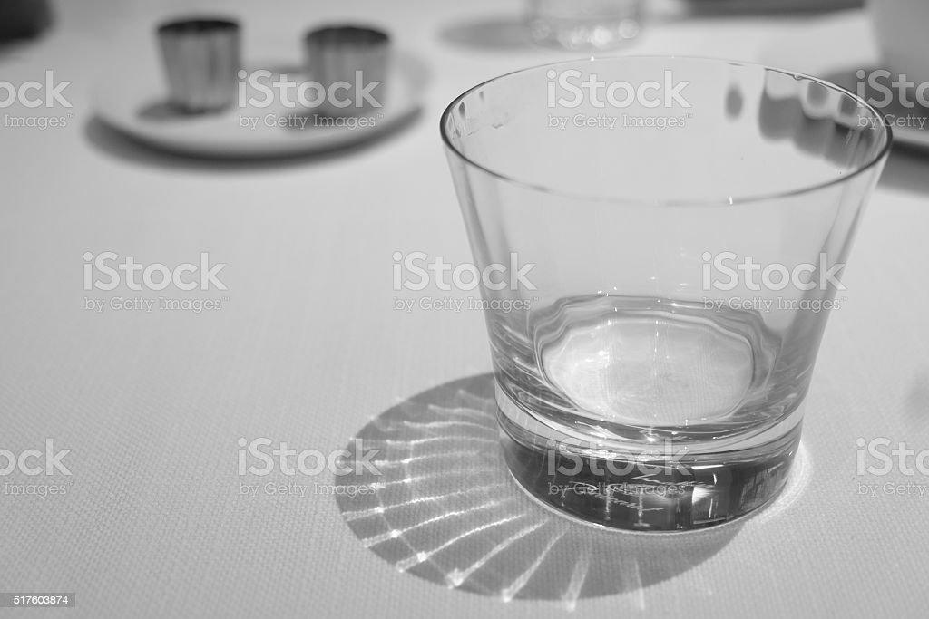 Beautiful Baccarat Drinking Glass stock photo