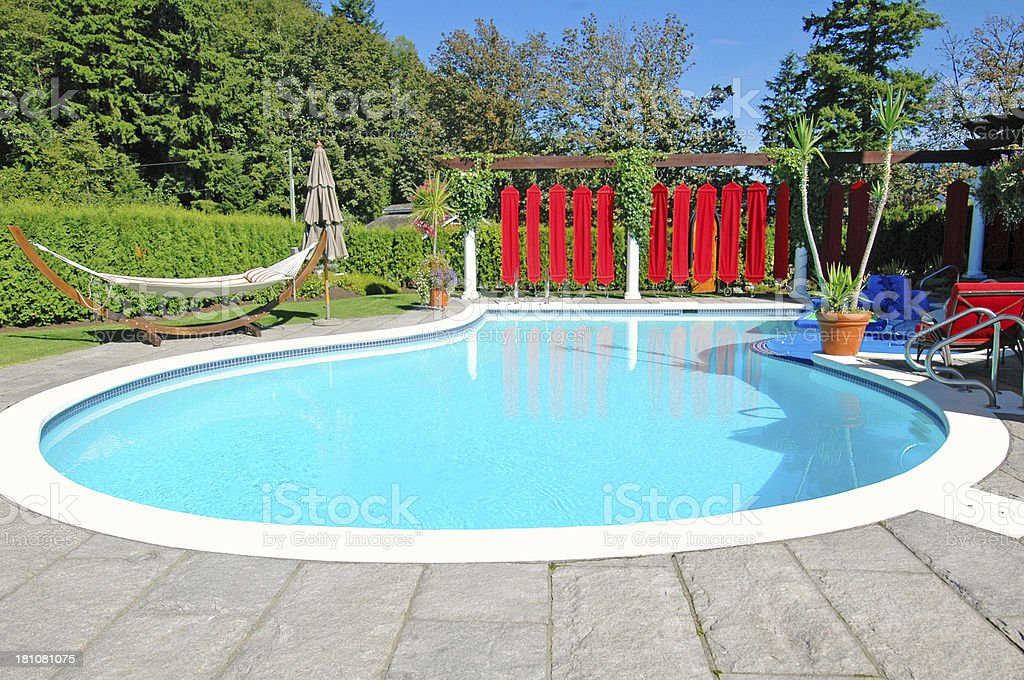 Schonen Hinterhof Pool Stockfoto Und Mehr Bilder Von Baum