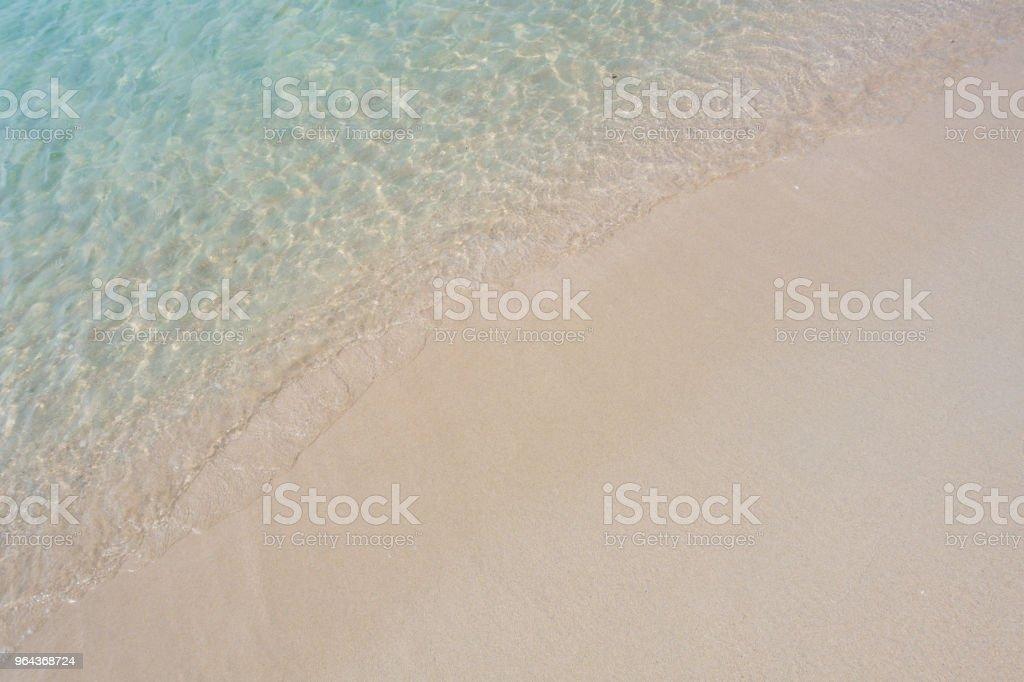 Mooie achtergrond schoon strand in de zomer - Royalty-free Achtergrond - Thema Stockfoto