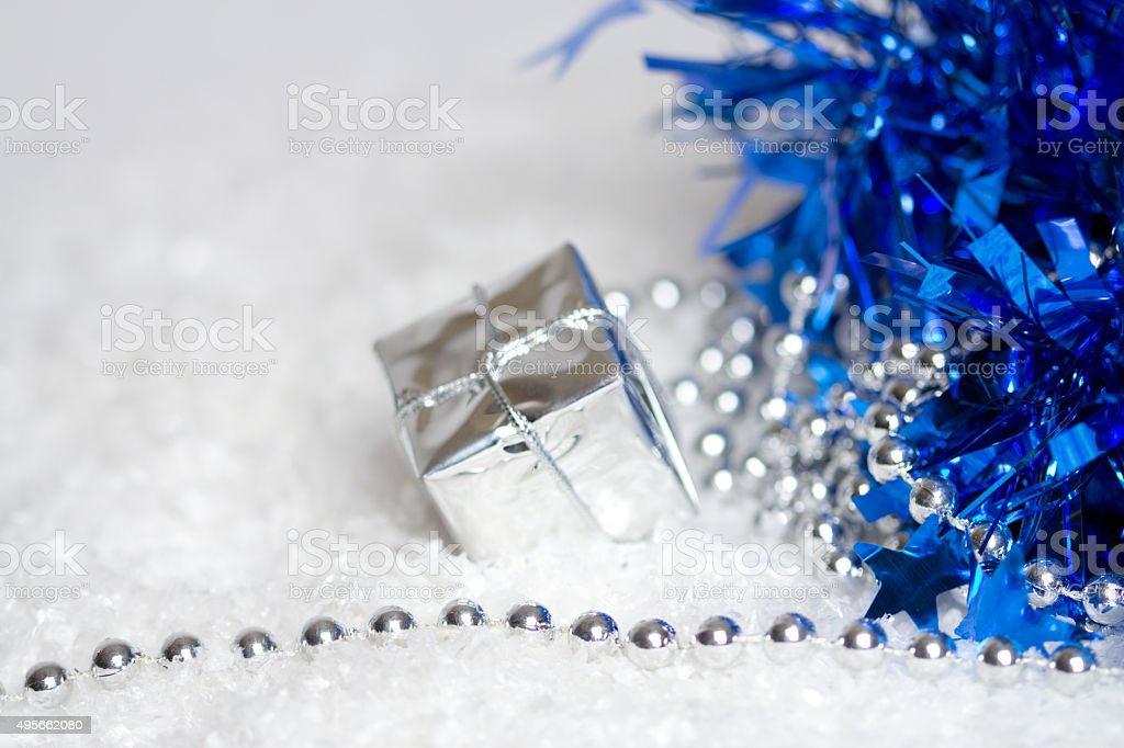 Beautiful background in silver with stars stock photo