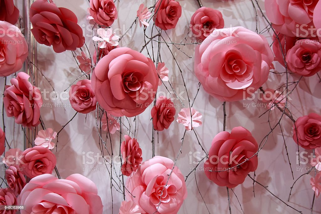 Foto de beautiful background of red roses wedding decorations e mais beautiful background of red roses wedding decorations foto royalty free junglespirit Choice Image