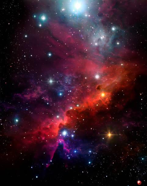 美麗的星空背景, 五顏六色的星雲, 星光, 閃耀 - 星系 個照片及圖片檔