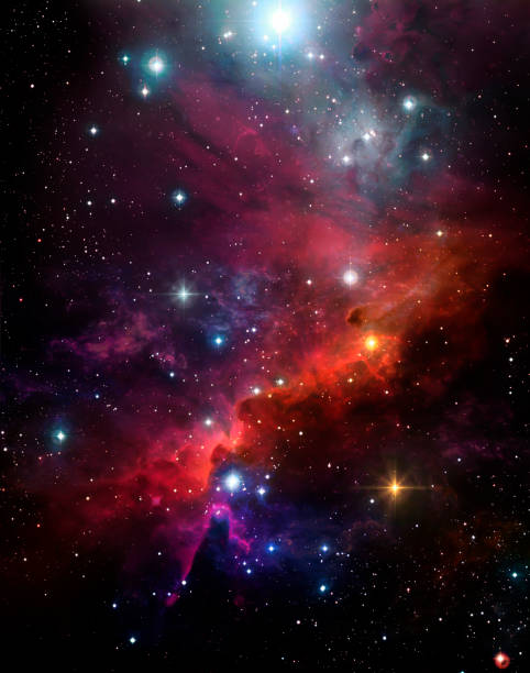 beautiful background of the starry sky, colorful nebula, star light,shine - space background стоковые фото и изображения