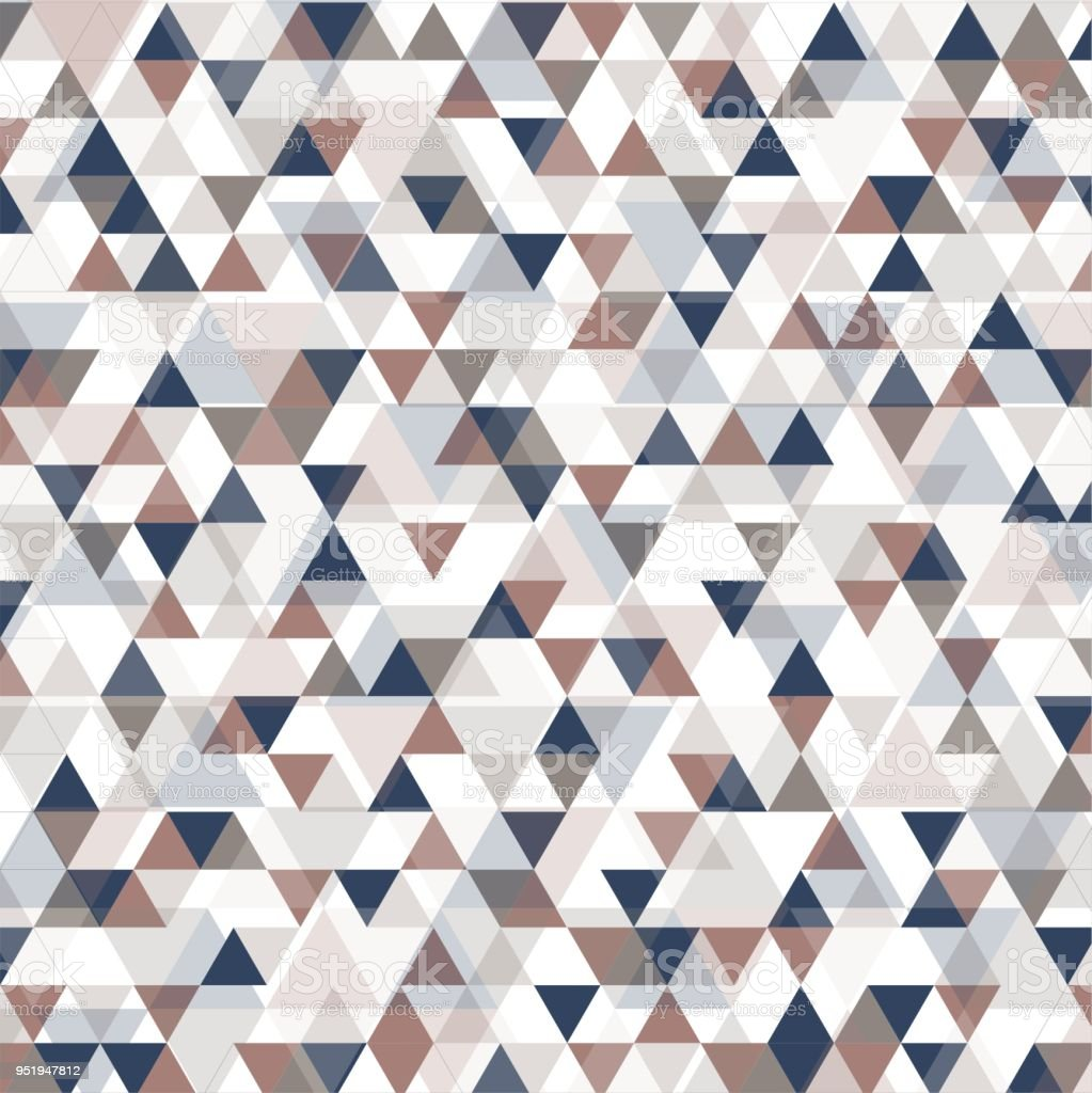beautiful background of triangles with pink, gray, blue and white color stock photo