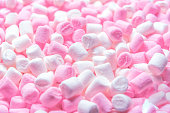istock Beautiful background of white and pink marshmallows 1172147445