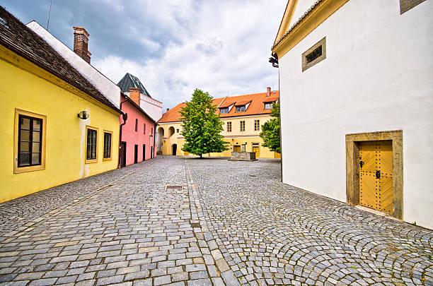 Beautiful backyard in Pardubice, Czech Republic stock photo