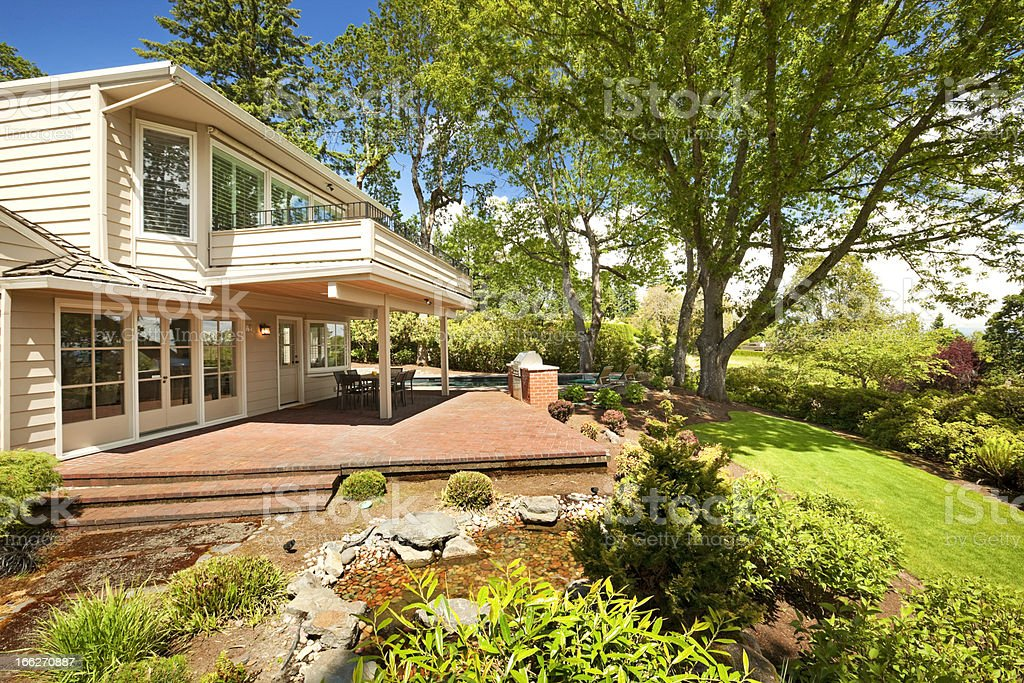 Beautiful Backyard royalty-free stock photo