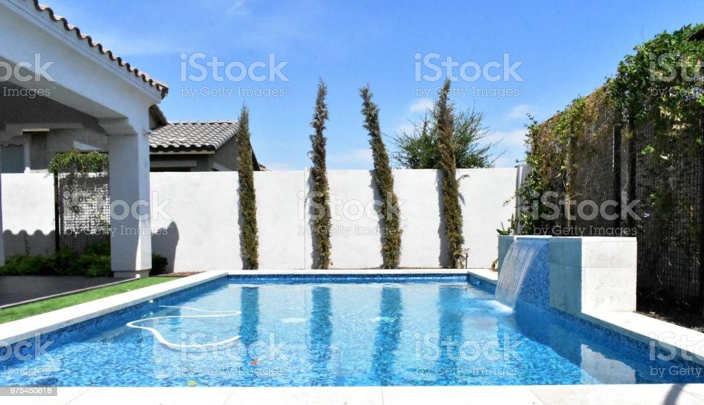 Schonen Hinterhofpool Stockfoto Und Mehr Bilder Von Arizona