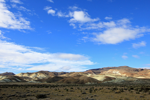 Beautiful badlands in the Chubut valley, along route 12, Chubut, Argentina
