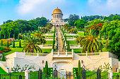 Beautiful Bahai gardens in Haifa, Israel