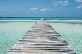 Beautiful Abaco Island, Bahamas in the summertime. This particular photo is taken of the longest dock in the Bahamas Commonwealth.