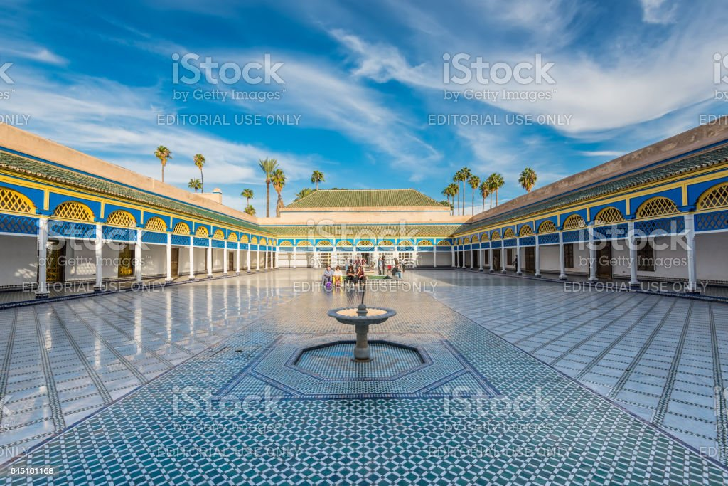 Beautiful Bahia palace in Marrakesh, Morocco stock photo
