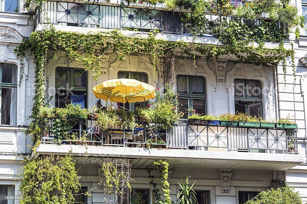 Beautiful balcony in Berlin stock photo